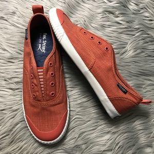 Paul Sperry Canvas Sayel Clew Scratch Sneaker